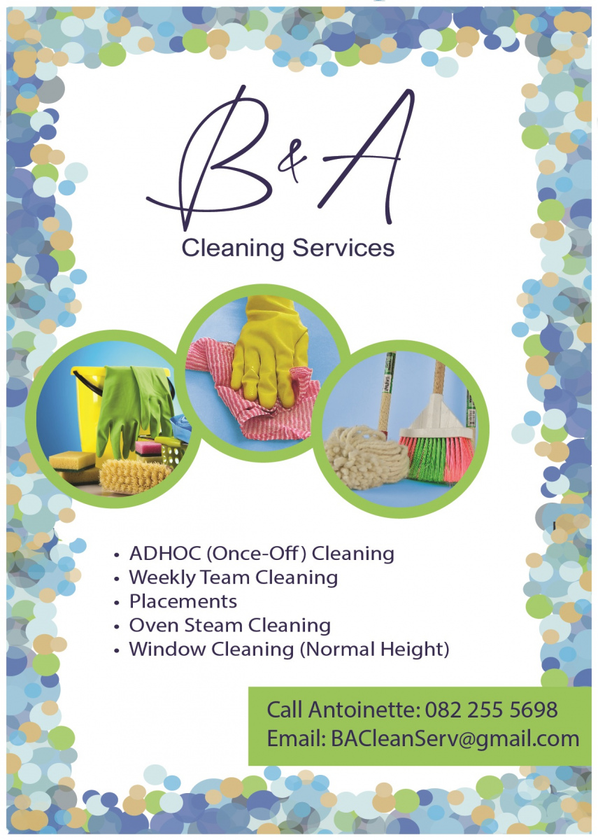 Ba Cleaning Advert A6 v 3